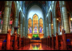 Christ Church Cathedral (Brandon Godfrey) Tags: world pictures wallpaper canada church window glass architecture landscape photography scenery catholic bc christ cross cathedral photos pics earth britishcolumbia interior sony gothic free scene victoria stained aisle architect pacificnorthwest northamerica dslr pews hdr christchurchcathedral a300 backround thechallengegame challengegamewinner