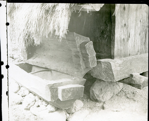 Coffin outside a hut in Bontoc village