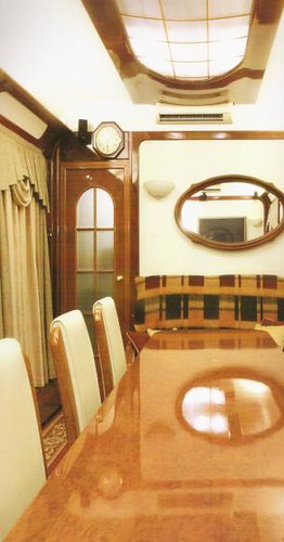 Private Rail Car in Russia - dining / conference area