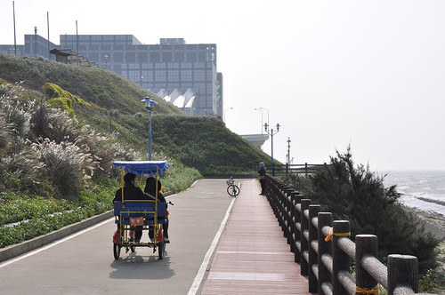 Första delen av cykelvägen vid havet