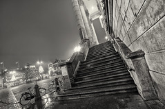 Stairs (Guido Musch) Tags: blackandwhite netherlands night stairs nikon zwartwit nacht nederland groningen hdr stadhuis grotemarkt d300 trappen sigma1020 guidomusch