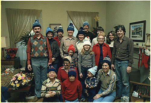 Carter family Christmas portrait, 12/25/1978