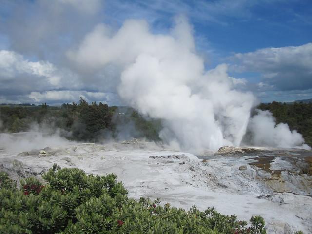 Rotorua 20 - Te Puia - Pohutu Geyser erupting by Ben Beiske