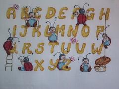 Lettermerklap (Moemoe Vetje) Tags: crossstitch embroidery kruissteek naaiwerk