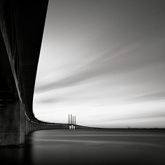 Bridge study I (Maria Stromvik) Tags: longexposure bridge seascape water architecture sweden bro resund resundsbron ndfilter nd110 resundbridge hoyand4 bwnd110