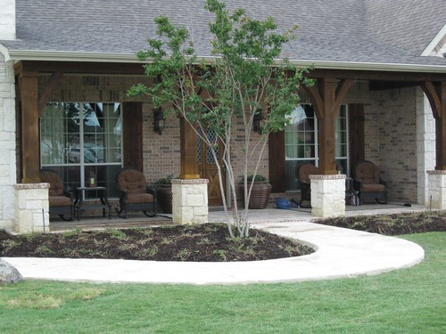 Frontyard backyard landscape design