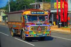 Sri-Lanka camion multicolore / Sri Lanka multicolored truck (pontfire) Tags: srilanka camion truck trucks voyage travel trip road holiday asia asie sri lanka leyland lankaashokleland camions fullcolors colorful multicolored multicolor paint peinture voyager worldcars