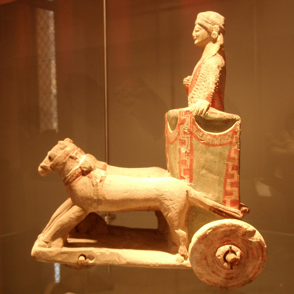 Limestone chariot from Amathous