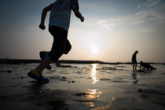 Go! (Ericinumass) Tags: leica sunset beach silhouette f14 summilux asph m9  21mm  wildopen