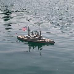 A dreadnaught at sea