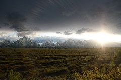 Sunset Over the Grand Teton Mountains (KyleFrank) Tags: park canon kyle frank sigma fisheye national 7d yellowstone 10mm
