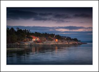 Cabins at the sea