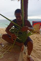 Kapelusz z liści palmy kokosowej | Hat made of coconut palm leaves