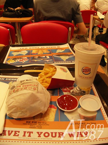 Lunch at Burger King