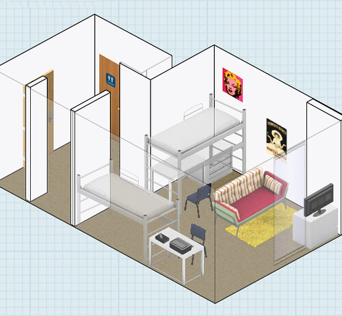Check out some of these example plans that I found on the DesignYourDorm  Flickr page. Design Your Dorm News