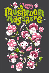 mushroom massacre (akrapf) Tags: mushroom illustration fight kill massacre slaughter akrapf