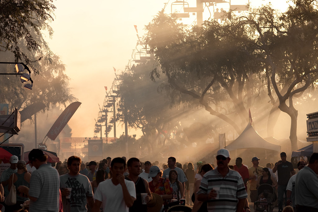 A smoky afternoon at the fair...