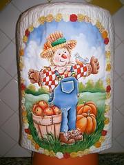 Capa para bombona (Vania Carla Prante - atelier2) Tags: painting fabric quilting pintura tecido fabricpainting pinturaemtecido