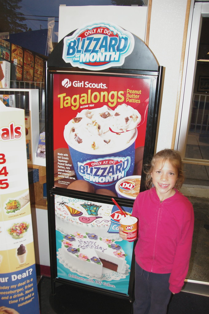 Girl Scout Tagalong Blizzard
