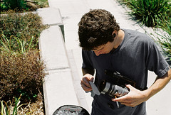 smoker (bryan05s) Tags: camera film video skateboarding cigarette skate videocamera skateboard skater smoker filmer