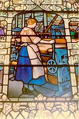 Window from Mary Slessor's Wishart Church now in Dundee Museum These windows depict Mary Slessor's life and work in Calabar, Nigeria.