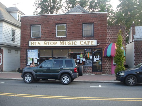 Outside of the Bus Stop Music Cafe
