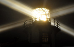 4 Beams of Point Cabrillo Lighthouse at Night (graphicxtasy) Tags: night point 4 beams cabrillo