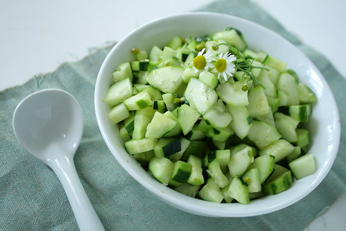 Cucumber and Chamomile Salad