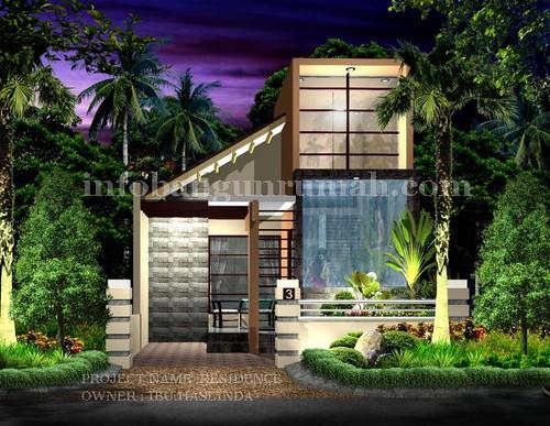 desain rumah minimalis 3D model jawa barat