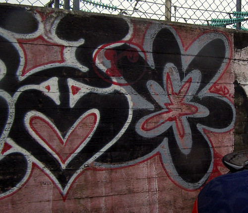 graffiti of heart and flower and more