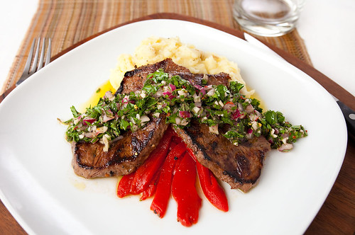 Hanger Steak with Chimichurri Sauce
