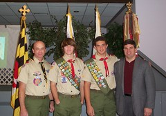 Senator Peters with new Eagle Scouts