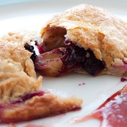 Gooseberries & Blueberries Turnovers with Cream Cheese Crust