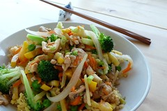 Veggie Stirfry with Fried Rice