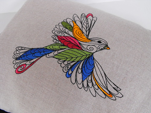 Lofty Nature - Embroidered Bird