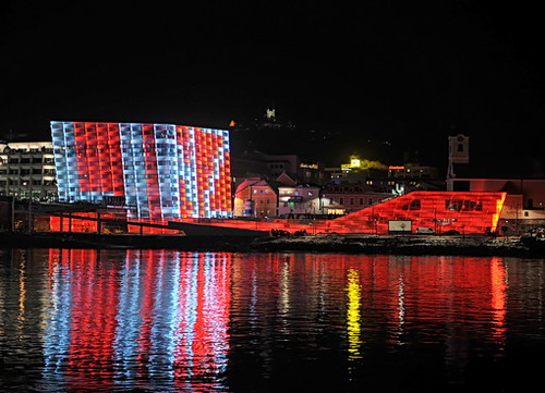 Ars Electronica Center on the bank of the Danube River. Photo: Courtesy City of Linz