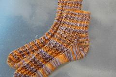 WendyKnits lacy ribs socks