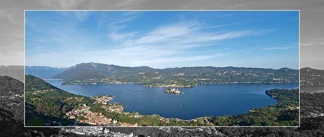 Lake Orta landscape from Madonna del Sasso