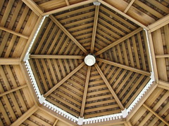 Looking up into the gazebo