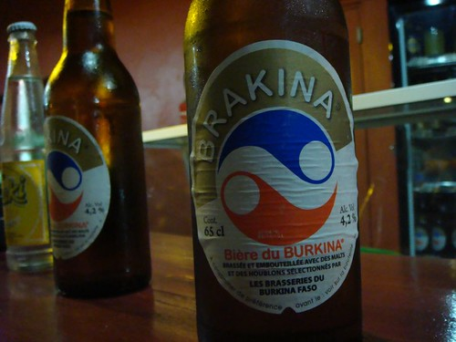 Brakina - one of Burkina Faso's beer brands.