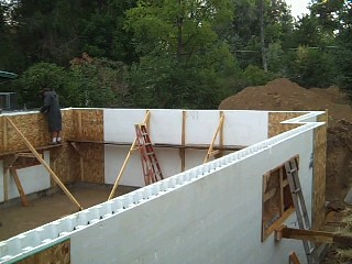 Insulated Concrete Form (ICF) Foundation