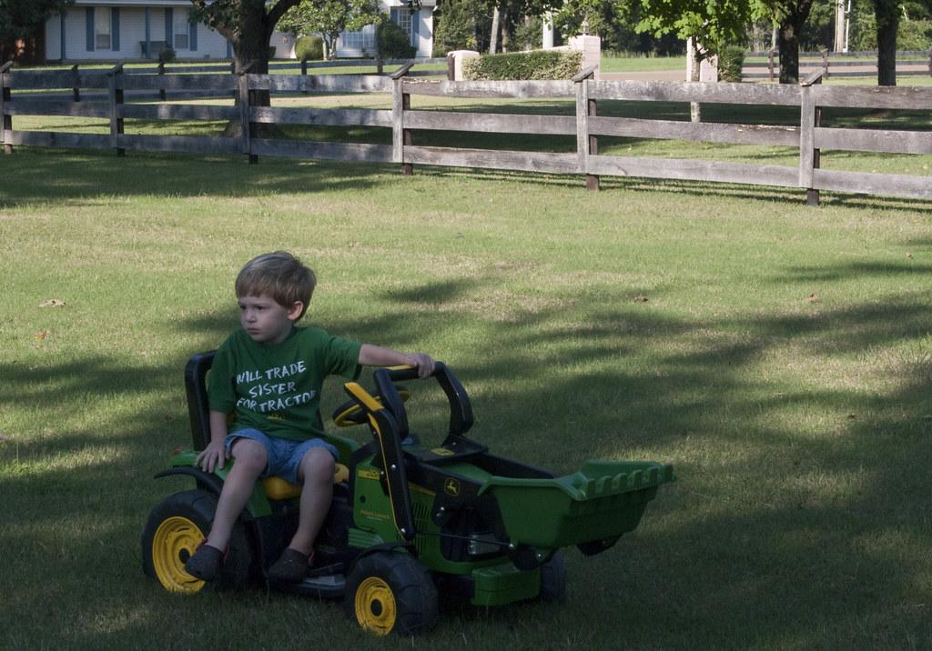 Matt loves his tractor