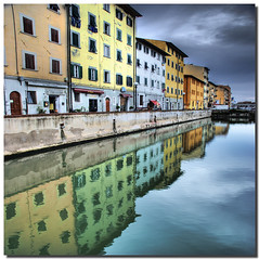Riflessi Livornesi (Nespyxel) Tags: travel windows reflection buildings reflections mirror cloudy perspective tuscany riflessi livorno viaggio hdr palazzi prospettiva finestre simmetrie symmetries challengeyouwinner nespyxel stefanoscarselli magicunicornverybest pleasedontusethisimageonwebsites blogsorothermediawithoutmyexplicitpermissionallrightsreserved