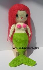 Miss mermaid, amigurumi crochet pattern (K and J Dolls) Tags: mer patterns crochet mermaid amigurumi geschenk muster zeemeermin disegno patron anleitung motivo croch hkeln patrn meerjungfrau sirne ganchillo uncinetto gurumi hkelanleitung amigurumimermaid