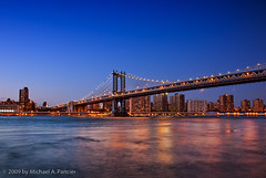 Manhattan Bridge (Michael Pancier Photography) Tags: nyc newyorkcity bridge ny skyline brooklyn dusk manhattan cities bridges brooklynbridge promenade manhattanbridge eastriver bluehour nyny seor brooklynbridgepark toml nighttimephotography newyorkcityskyline floridaphotographer michaelpancier michaelpancierphotography landscapephotographer ctvb wwwmichaelpancierphotographycom seorcohiba