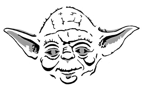 yoda head coloring pages - photo#6