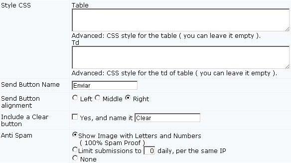 Criar formulário de contato passo 4.