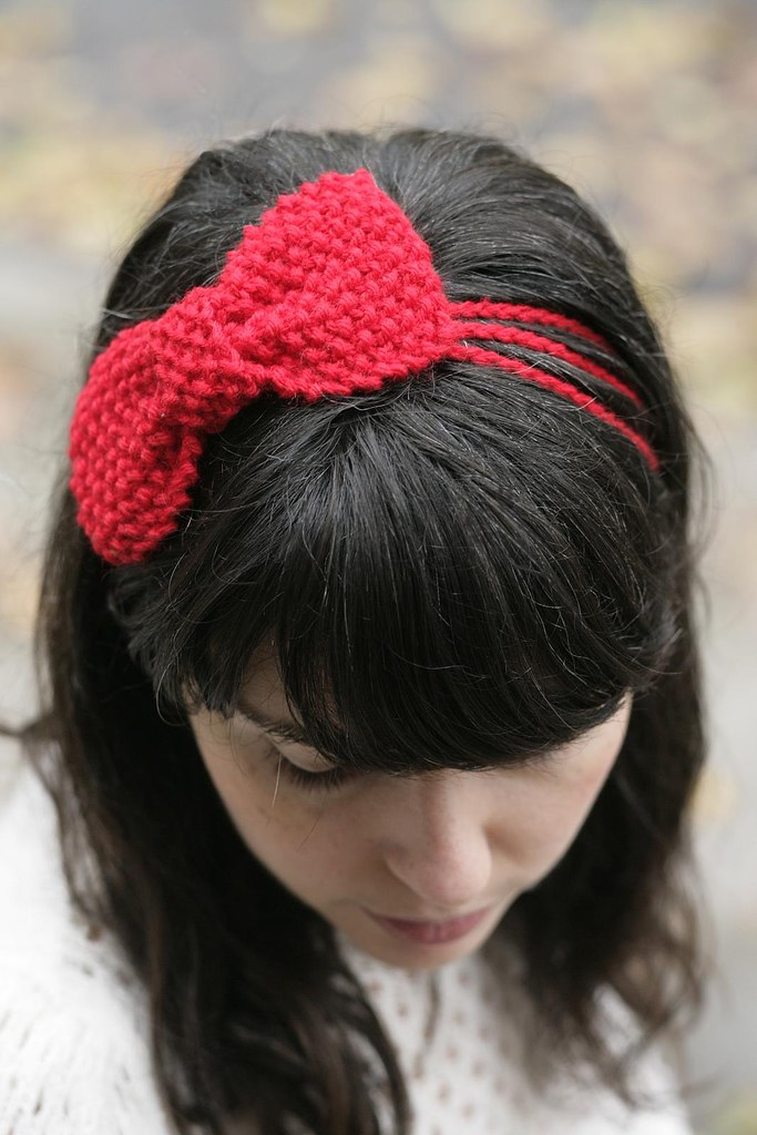 Free Crochet Pattern For Bow Headband ~ Dancox for
