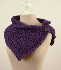 Winter Grapes Cowl / Shoulder Warmer (phydeaux designs) Tags: winter purple violet grape capelet neckwarmer cowl autumnfall shoulderwarmer phydeaux czechglassbuttons phydeauxdesigns knitknittingknitted