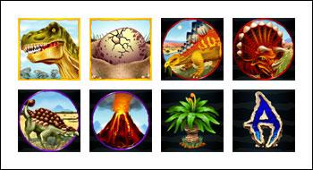 free T-Rex slot game symbols